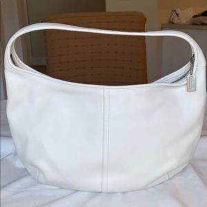 COACH Moon Leather Bag in Light Creme. Like New!